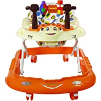 Panda Musical Baby Walker With Tray For 6 Months Babies - Orange