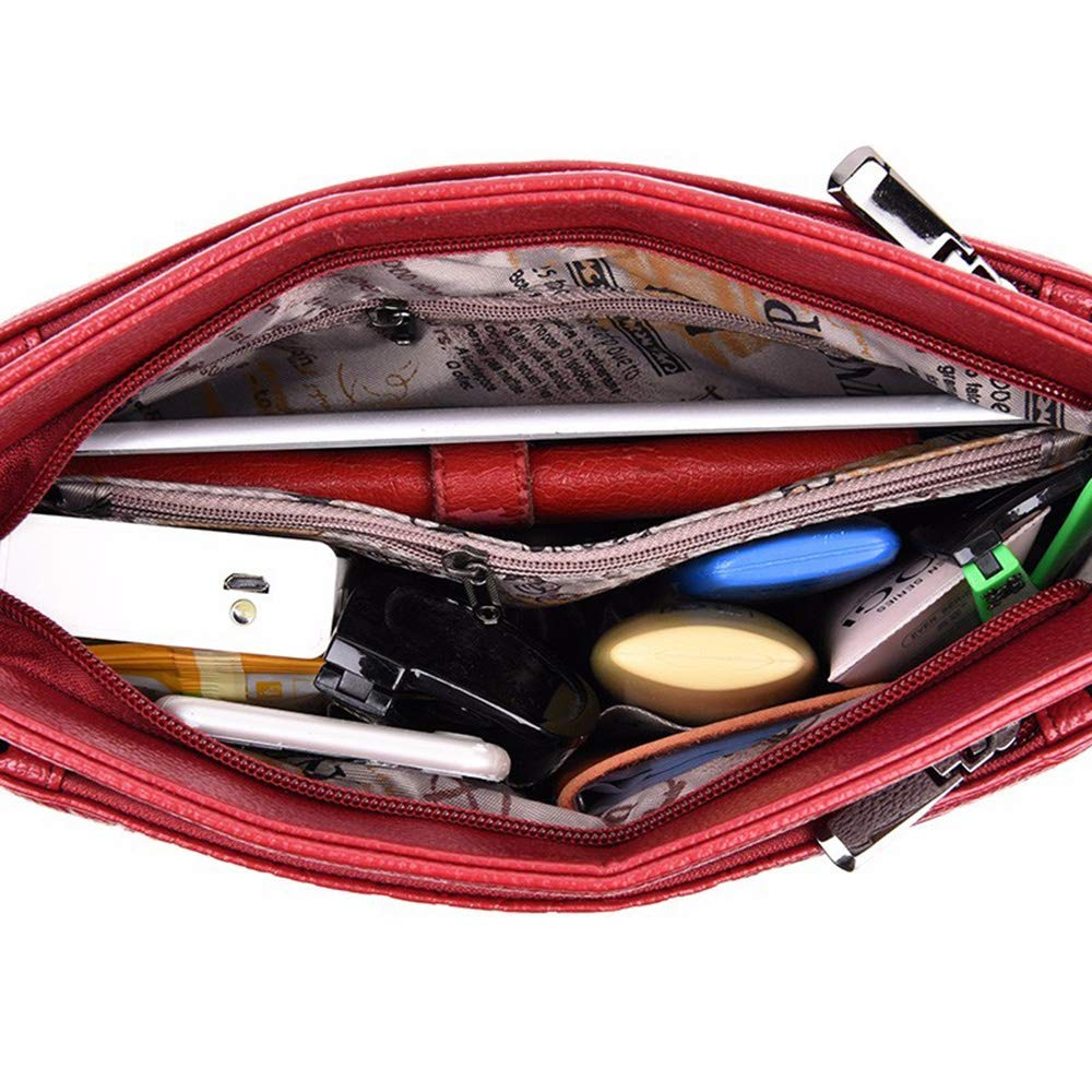 MIMI KING mjuk läder axelväska för kvinnor mode trend handväska liten crossbody väska Lila
