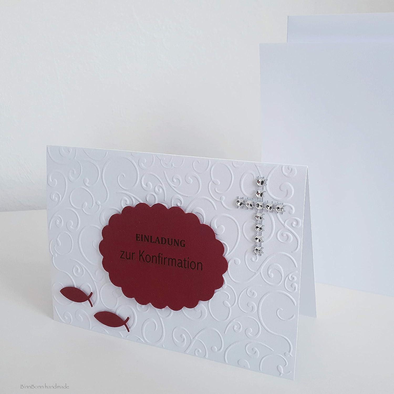 8 personalisierte einladungskarten taufeinladungen taufkarten einladung zur taufe einsegnung kommunion konfirmation firmung fische kreuz handarbeit