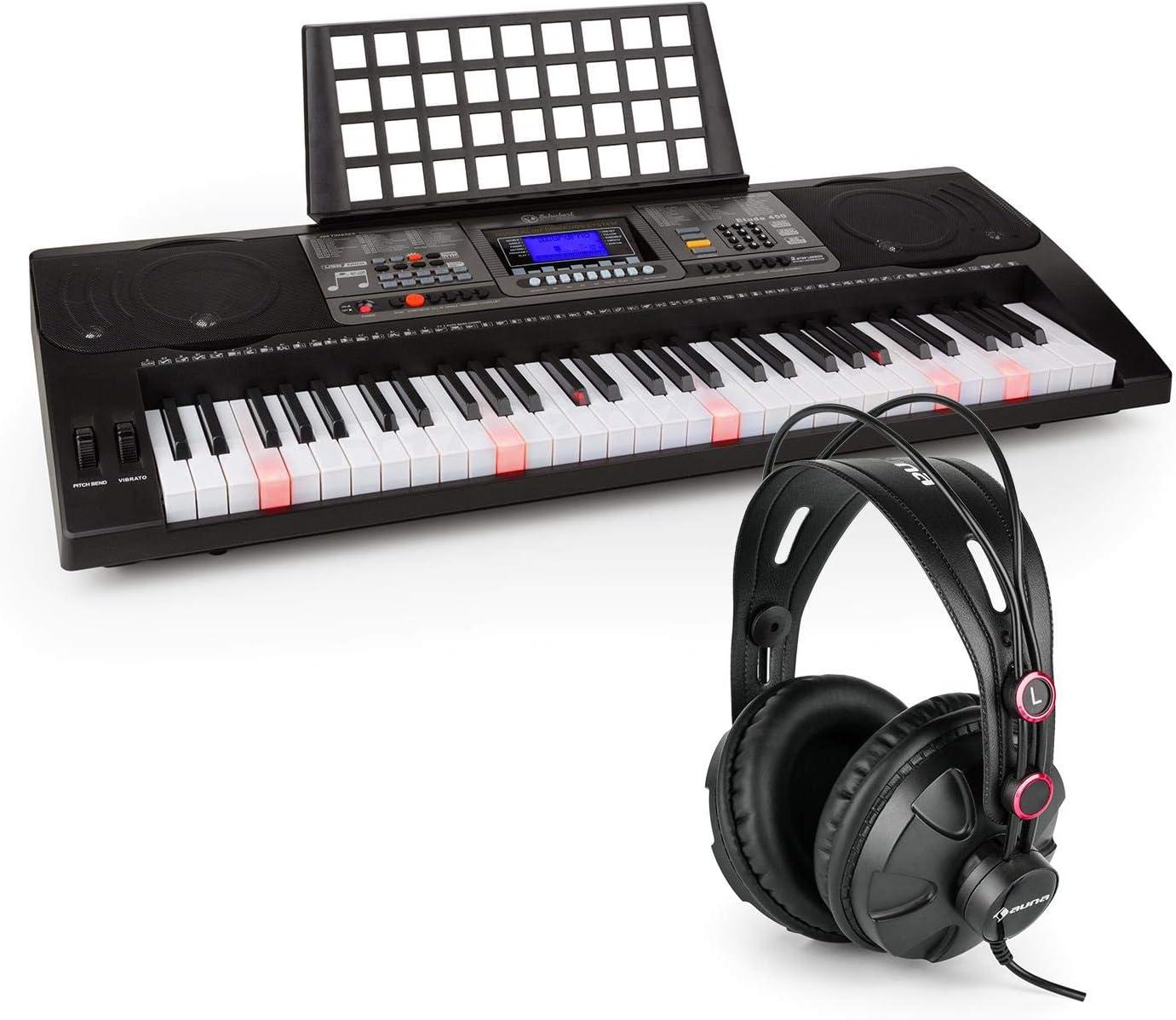Schubert Etude 450 USB Teclado de aprendizaje con auriculares de ...