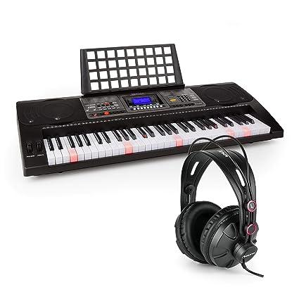 Schubert Etude 450 USB Teclado de aprendizaje con auriculares de estudio Piano de 61 teclas luminosas
