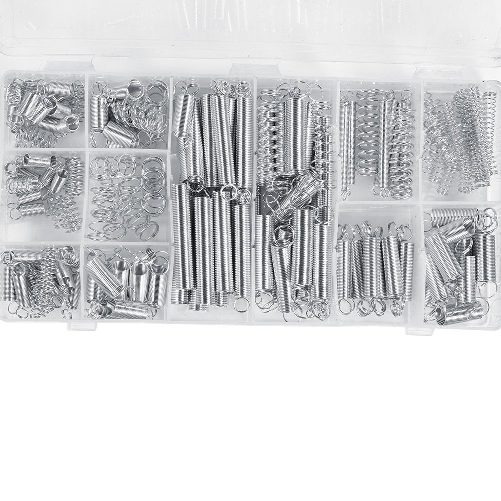 Alinory 200 set of 20 size expansion compression spring kit with box practical tools