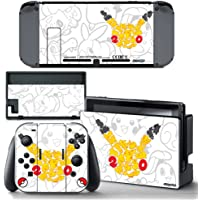 Ci-Yu-Online VINYL SKIN [NS] 20th Anniversary Pikachu STICKER DECAL COVER for Nintendo Switch Console and Joy-Con Controllers