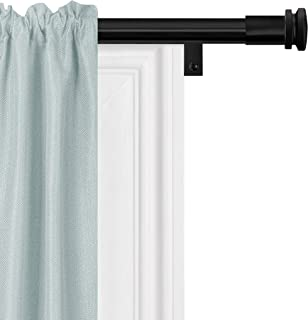 product image for Zenna Home Easy Install Window Rods, 48 to 120 inches, Black