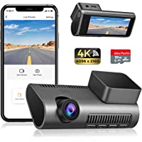 Dash Cam 4K WiFi Ultra HD 2160P Car Dash Cam with SD Card Included, Dash Camera for Cars with Night Vision, WDR, Loop…