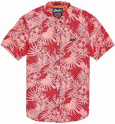Superdry International Vacation Camisa Hombre Washed Red Hibiscus: Amazon.es: Ropa y accesorios