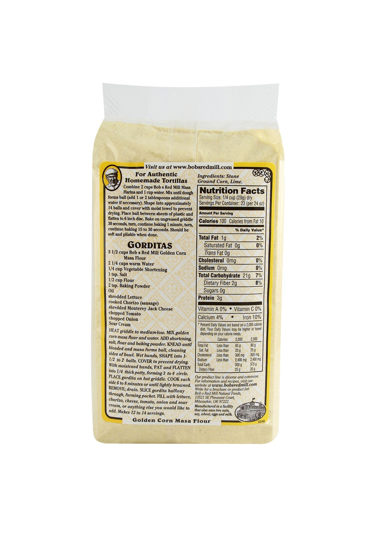 Bobs Red Mill Golden Masa Corn Flour, 1.63 Pound by Bob's Red Mill (Image #5)