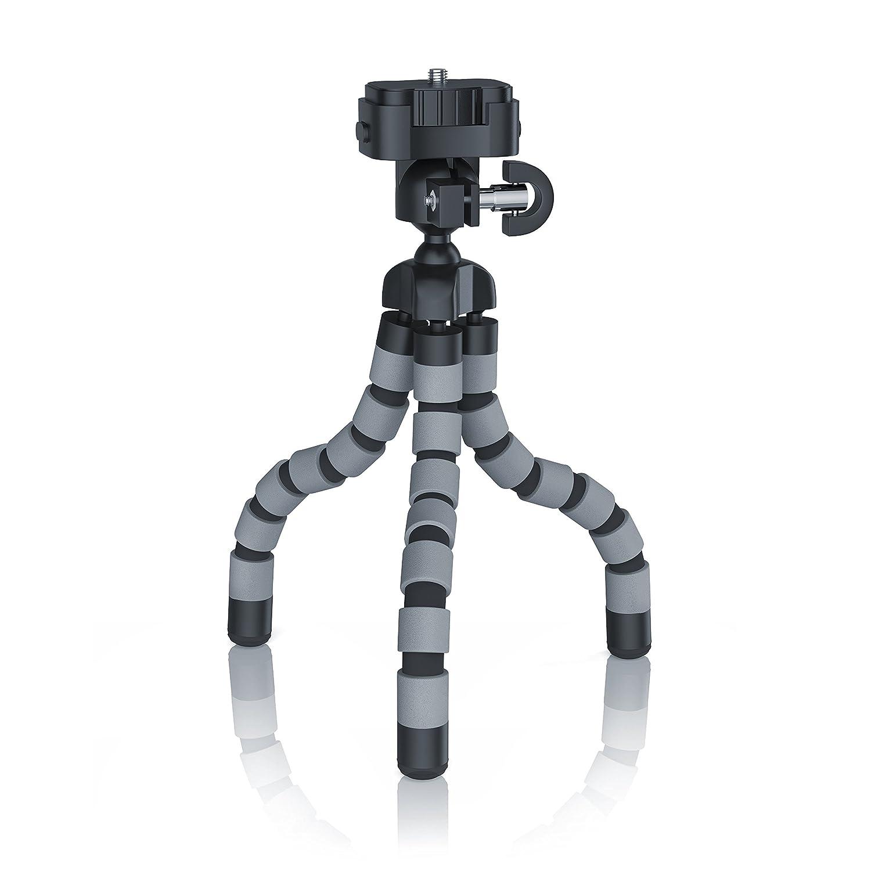1//4//6.5mm | max Treppiede Idrorepellente 400g Filettatura standard Treppiede flessibile Treppiede Altezza 20cm Piedini in gomma antiscivolo Supporto universale per fotocamera CSL