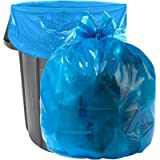 Aluf Plastics - B00DH4D7Z6 40-45 Gallon Blue Trash Bags - Pack of 100 - Garbage or Recycling Bags 33' by 46' 1.2…
