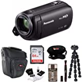 Panasonic HC-V380K Full HD 1080p Camcorder with 64GB SD Card and Accessory Bundle