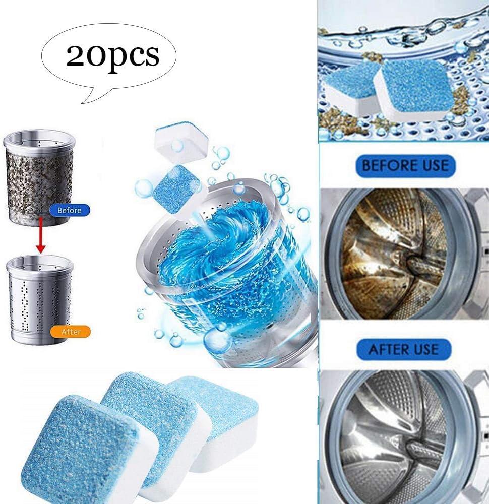 Stayreally - Limpiador de Lavadora, detergente de Limpieza de descontaminación de Lavadora, descalcificador Profundo Desodorante para Limpieza de tabletas efervescentes: Amazon.es: Hogar