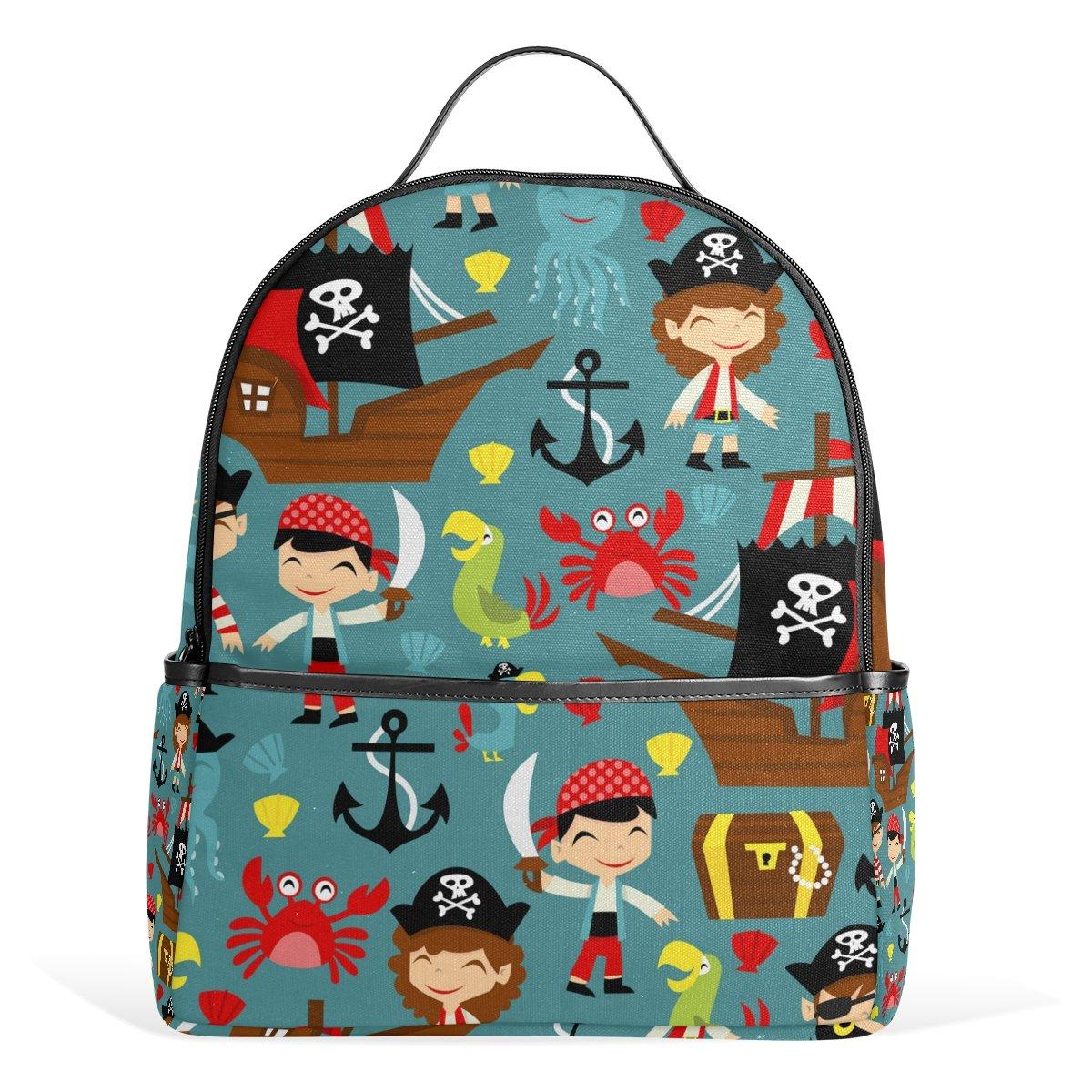new DEYYA Pirates Anchor Skull Kids School Backpacks for Boys Girls Bookbags Children's Gift