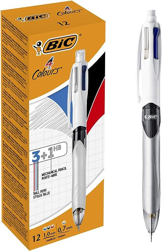 BIC 4 colores 3+1HB Bolígrafo y Portaminas – Caja de 12 unidades ...