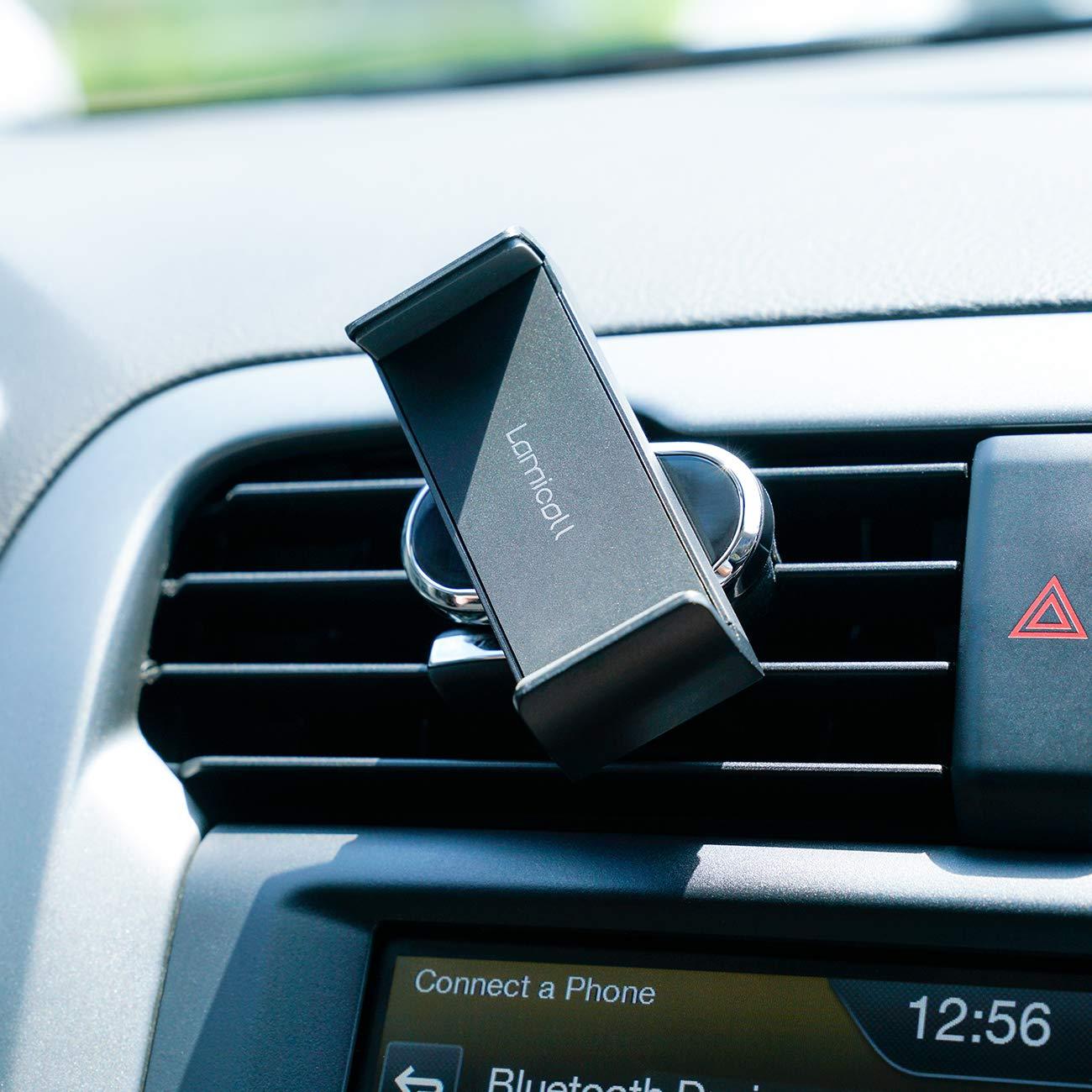 Huawei Universale Supporto Telefono : Rotazione 360 Gradi Supporto per Phone XS Max XR X 8 7 6 Plus Google Lamicall Supporto Cellulare Auto Huawei Nero Altri Smartphones Samsung S8 S7