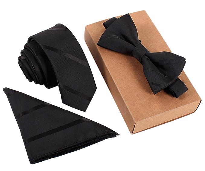 New Polyester Woven Men/'s Neck Tie necktie /& hankie set Stripes gold wedding