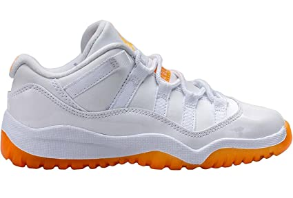 Jordan Nike Air 11 Low P.S Little Kids White Citrus 580522-139 US 1.5Y 44545bb4e096