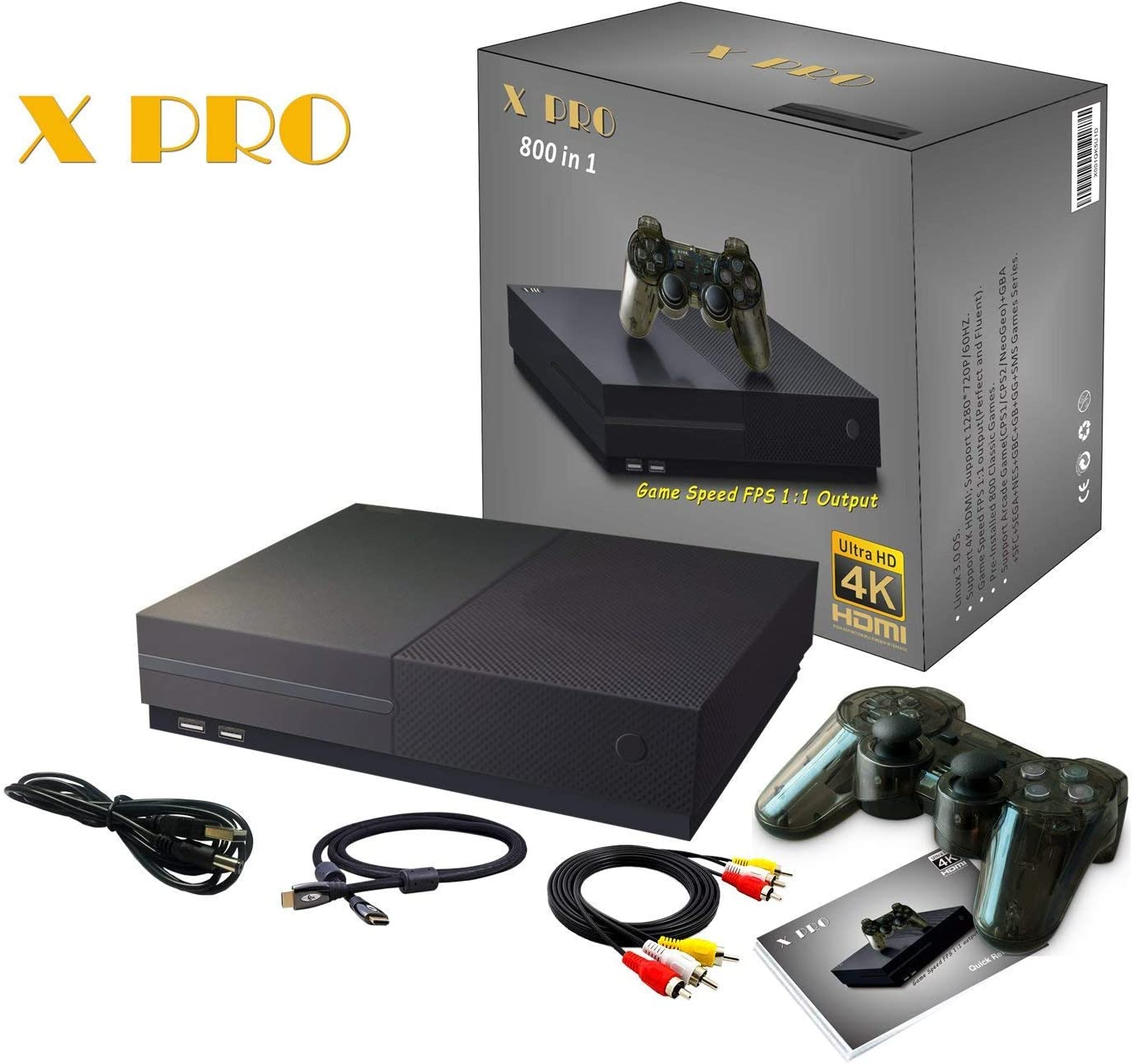 CXYP Consola de Videojuegos Retro, 4K HDMI Video Incorporado 800 Juegos clásicos con 2PCS Joysticks: Amazon.es: Electrónica