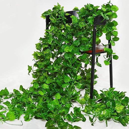 CHICIEVE Hiedra Artificial, 12 hebras de decoración para Bodas, Fiestas, jardín, decoración de Pared, decoración del hogar, Paisaje de Pared, Valla de jardín (un Paquete es de 26,4 m en Total): Amazon.es: