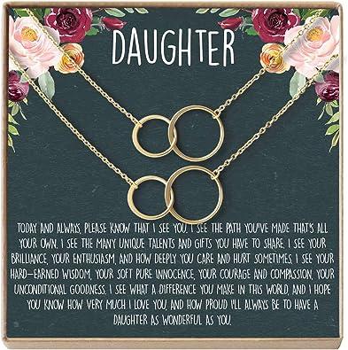 Amazon.com: Collar para hija, tarjeta de corazón y joyería ...