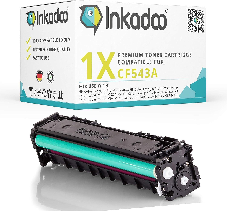 Premium Ersatz Toner Hp 203x 203a Cf 543a 1 300 Seiten Drucker Kartusche In Magenta Kompatible Drucker Hp Color Laserjet Pro M 254 Dnw Dw Nw Mfp M 280 Series Mfp