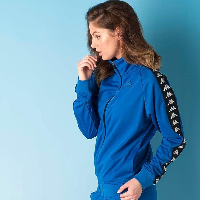 Kappa - Chaqueta deportiva - para mujer azul azul 36: Amazon ...