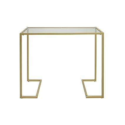 Incredible Amazon Com Carolina Chair Table 1Cf3816G Gld Monaco Glass Machost Co Dining Chair Design Ideas Machostcouk