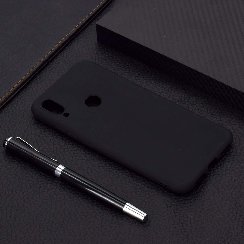 Funda para Xiaomi Redmi Note 7 Pro Anfire Carcasa Silicona Gel TPU Case Ultra Delgado Suave Mate Goma Protectora Caso para Xiaomi Redmi Note 7 Flexible Caja Ligero Case Cover Tapa Color Jalea Rojo