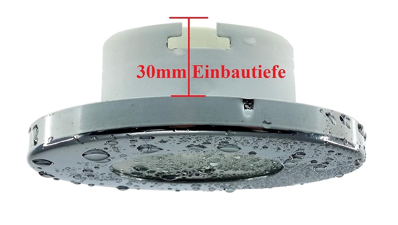/Foco orientable redondo Incluye 3/x 3/W LED M/ódulo solo 3/cm profundidad de montaje ba/ño ducha Trango/® Juego de 3/IP44/