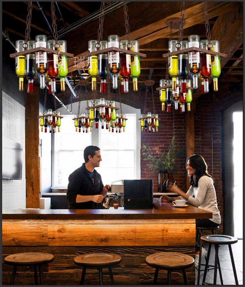 Tytk American Industrial sala de billar Billares candelabros retro Museo Cafe Restaurante Hot Pot en la oficina de la araña Restaurante candelabros, ...