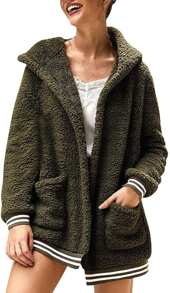 Veste à capuche en polaire avec poches devant | Mode en