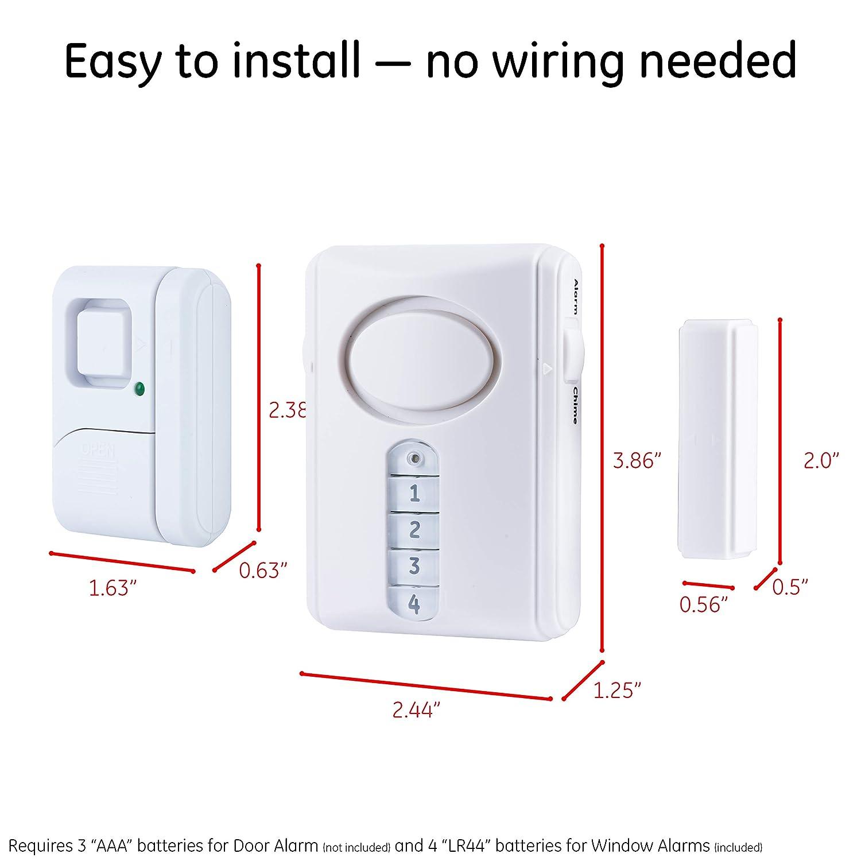 Amazon.com: Jasco Productos 51107 Alarma de Seguridad Kit, 4 ...