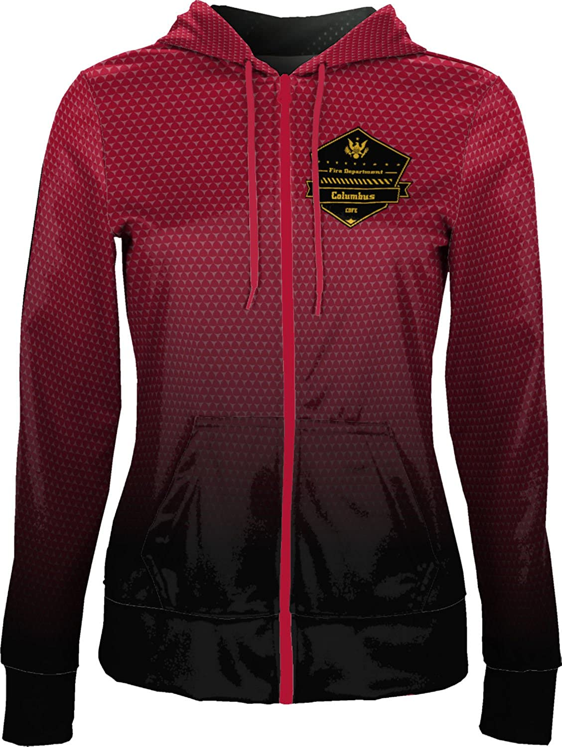 Women's Columbus Department of Fire and EMS Fire Department Zoom Fullzip Hoodie