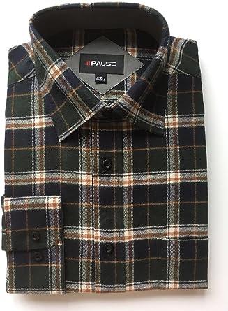 Private Member - Camisa de franela para hombre (100% algodón, M-5XL) Verde Verde. XXL: Amazon.es: Ropa y accesorios