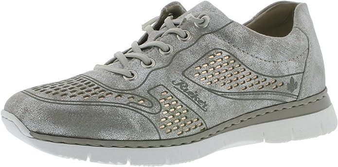 Rieker M5228 - Zapatillas deportivas para mujer, con cordones, aspecto desgastado: Amazon.es: Zapatos y complementos