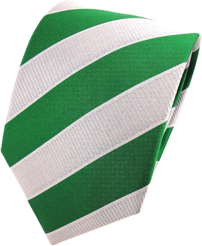 TigerTie - Corbata - hoja verde gris plata rayas: Amazon.es: Ropa ...