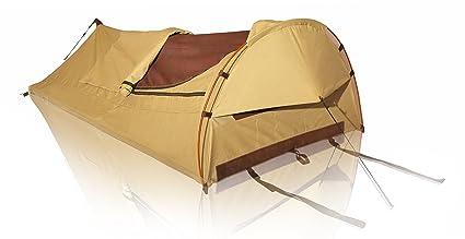 timeless design 2baa3 37e56 Amazon.com : WHITEDUCK 1-Person Khaki Canvas Swag Tent with ...