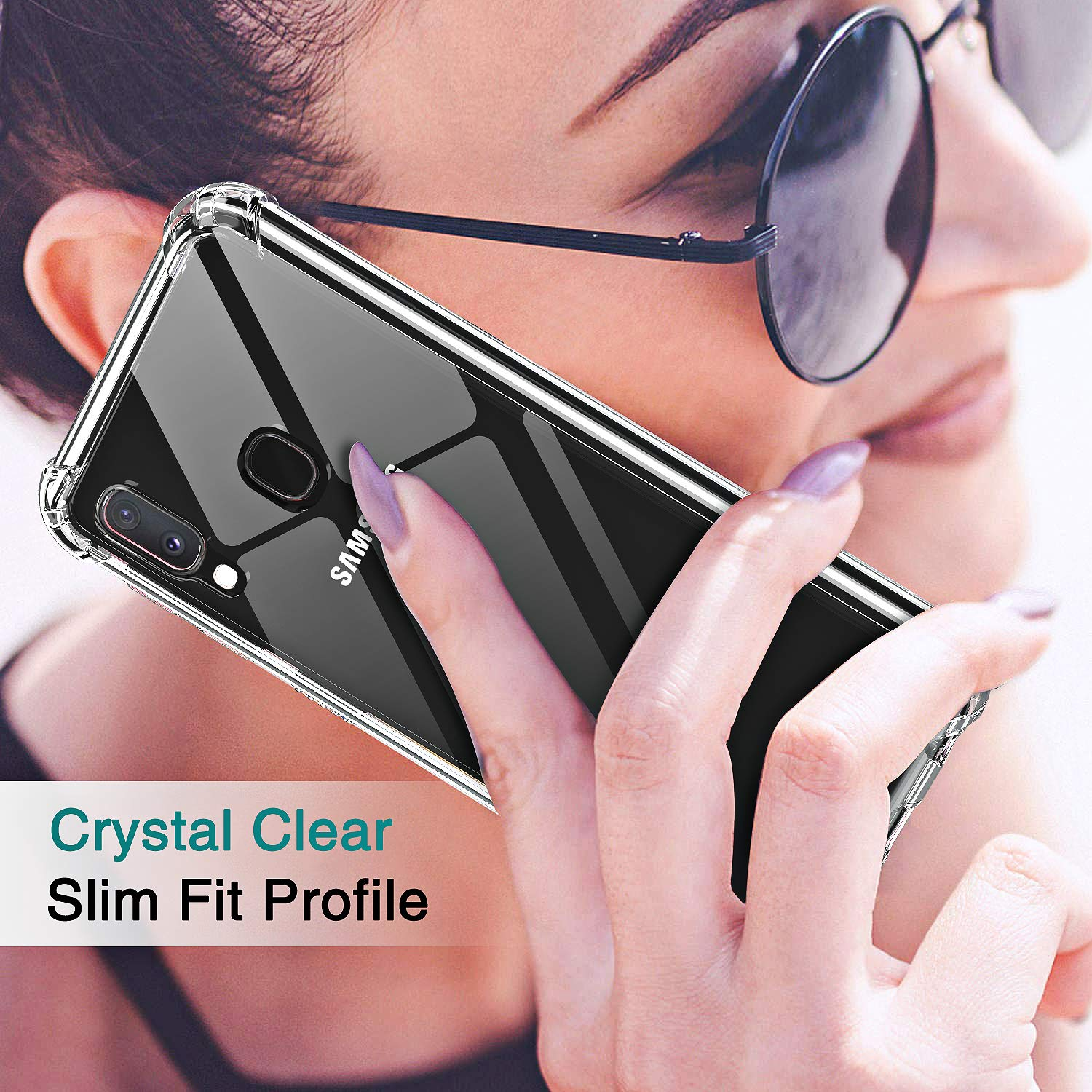 LeYi for Samsung Galaxy A50 Case with Tempered Glass Screen Protector Crystal Clear Air Cushion Full Body Shockproof Silicone Bumper Hard PC Back Phone Cover for samsung A50 2 pack Military Grade