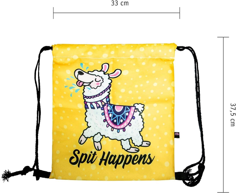 Crazy Lama design avec fond en cuir renforc/é Sac /à impression /à la mode cosey