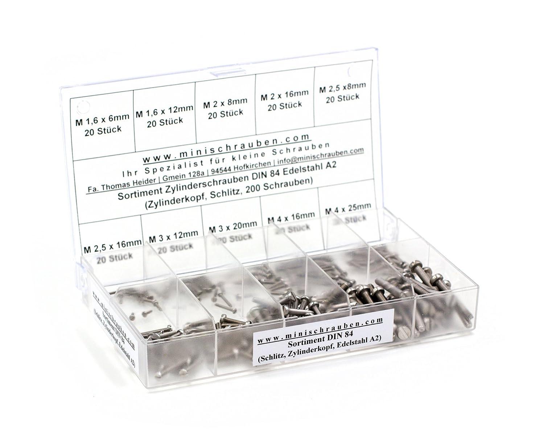 Muttern DIN 965 M1,6 x 16 Scheiben 5 V2A Schrauben