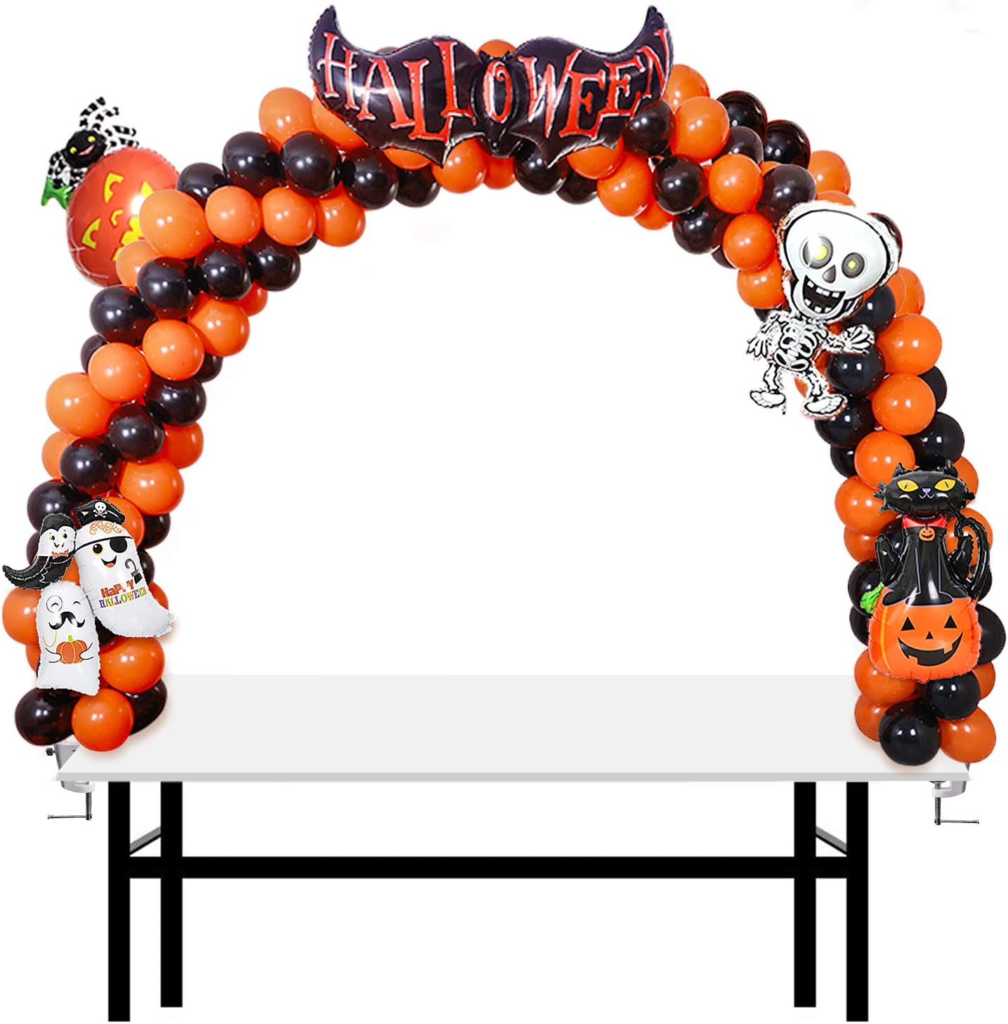 AXHJ 13Ft Adjustable Balloon Arch Stand Kit, New Reusable Table balloon arch kit with base High Strength Glass Fiber Pole for DIY Party Wedding Birthday Baby Shower Xmas Festival Decorations: Toys & Games