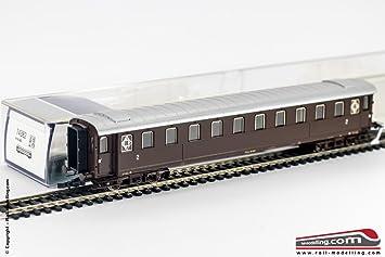 Carrozza passeggeri FS serie ABz 60066 1°// 2°cl H0 1:87 Castano ROCO 74381