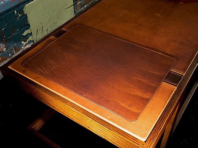 Amazoncom Leather Desk Pad 13 x 18 in Chestnut Horween Leather