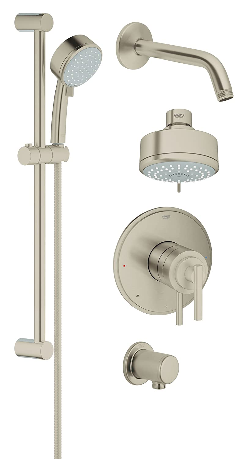 Grohflex Timeless 4-Spray 2-Function Pressure Balance Shower System ...