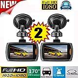 "Car Cameras, Weant 2x Car 1080P 2.4"" Full HD DVR Vehicle Camera Dash Cam Video Car Recorders Muti-Function Recorder G-sensor Night Vision"