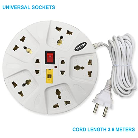 Excellent Buy Esystems Multi Plug Point 7 1 Strip Extension Cord White Wiring 101 Akebretraxxcnl
