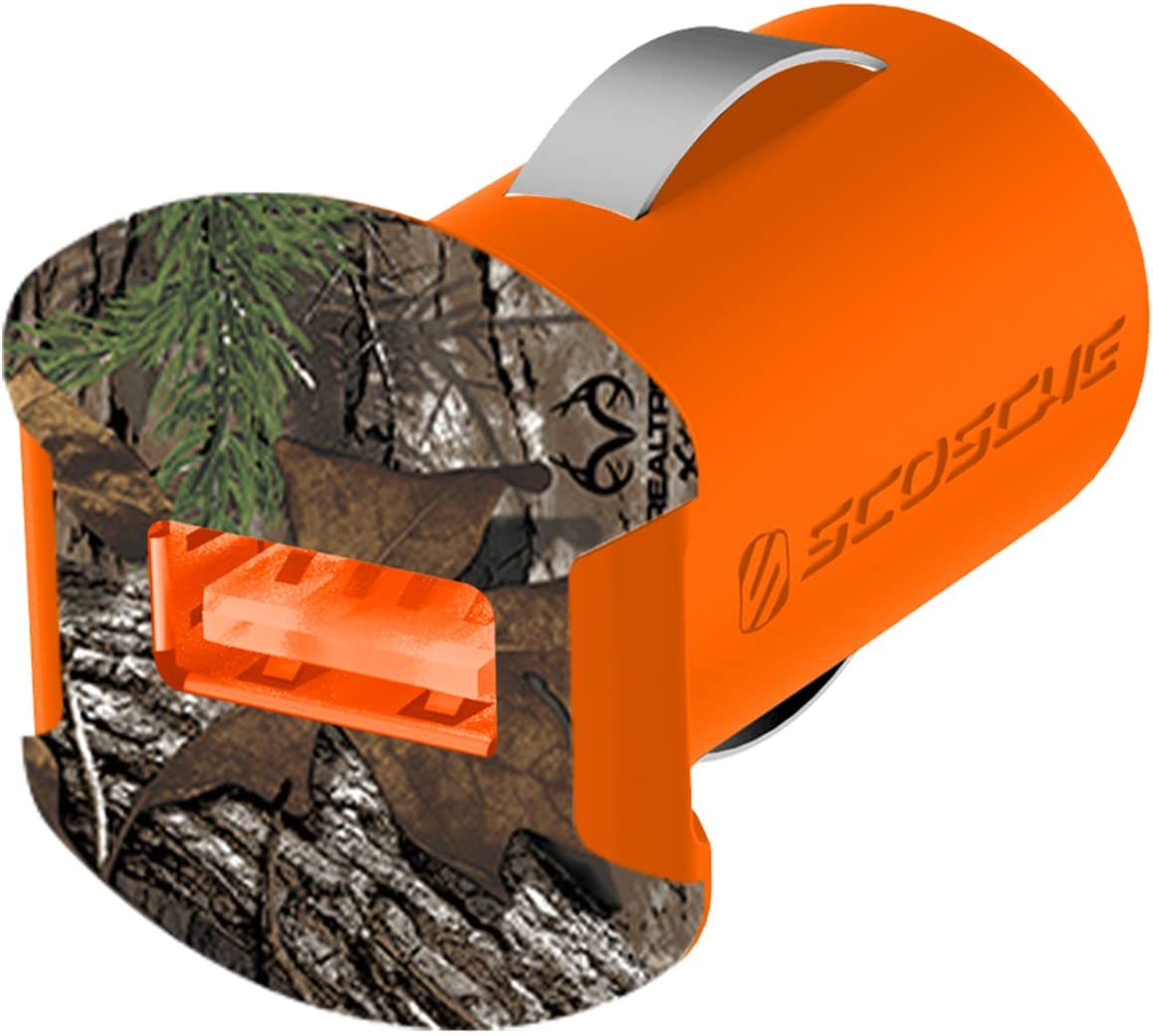 SCOSCHE Realtree USB Car Charger for Universal//Smartphone Camo