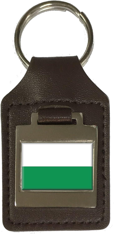 Leather Keyring Engraved Styria Flag