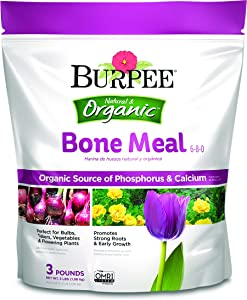 Burpee Organic Bone Meal Fertilizer, 3 lb (1 Pack)