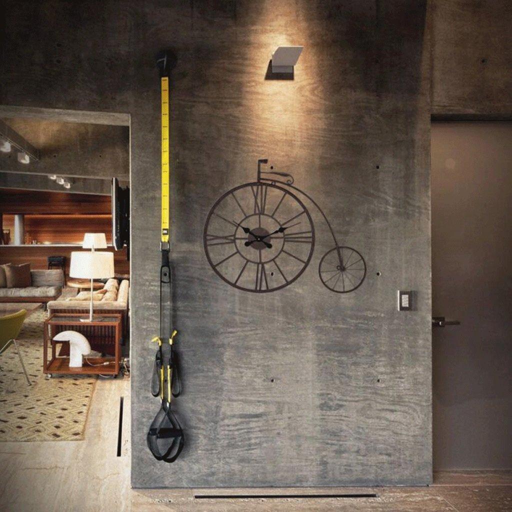 TXXM® リビングルームクリエイティブファッションアートバー壁画壁レトロミュート時計壁掛け掛け時計 (色 : A) B07F5X827F A A