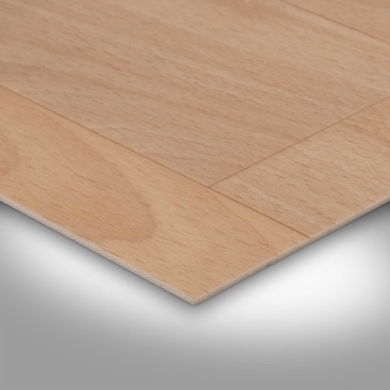 Meterware Gr/ö/ße: 1,5 x 2m Schiffsboden Buche 200 und 400 cm Breite PVC Bodenbelag Holzoptik verschiedene Gr/ö/ßen